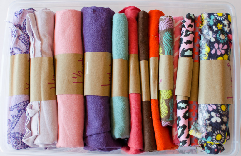 organized flannel fabric