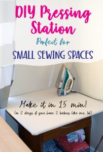 Make a custom sized pressing board that can fit in your small sewing space and be easily put away when not in use.